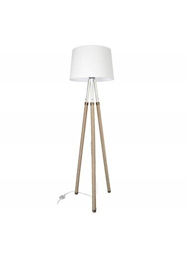 Modelight Viyana Halatlı Lambader Beyaz Ayak / Açık Krem Şapka Renksiz